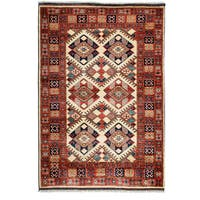 """Domadayea Hand Knotted Area Rug - 4' X 5'10"""""""