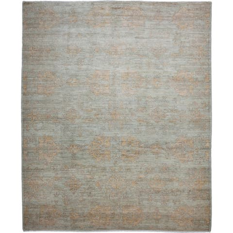 "Oushak, One-of-a-Kind Hand-Knotted Area Rug - Light Gray, 8' 4"" x 10' 1"" - 8'4"" x 10'1""/Surplus"