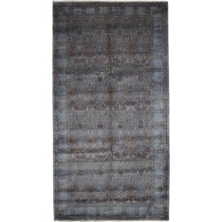 """Overdyed Jaladr Hand Knotted Area Rug (6'1"""" X 11'7"""")"""