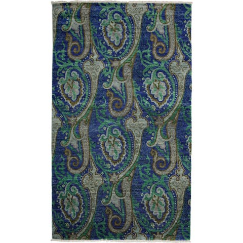 """Mneestan Hand Knotted Area Rug - 5' x 8'6"""""""