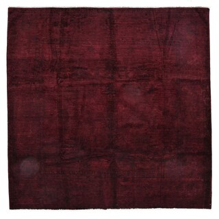 """Overdyed Tel Halayah Hand Knotted Area Rug (8'10"""" X 9')"""