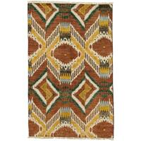 Zuyah Hand Knotted Area Rug - 4' X 6'3""