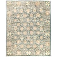 Siriyuva Hand-knotted Grey Wool Area Rug (8'1 x 10'1)