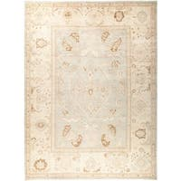 Kizizdere Beige Wool Hand-knotted Oriental Area Rug (8'10x11'10)