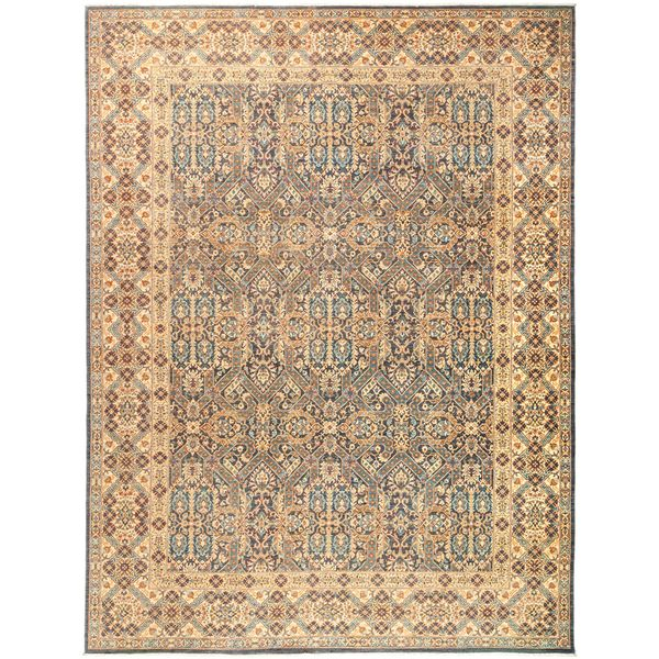Shop Beige Wool Hand Knotted Oriental Persian Area Rug 6: Shop Rafira Beige Wool Hand-knotted Oriental Area Rug (9