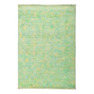 "Overdyed Jaturah Hand Knotted Area Rug (4'1"" X 6')"