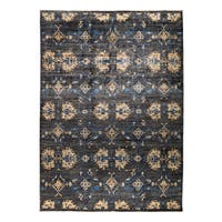 Miangan Grey Wool Hand-knotted Area Rug (9' x 12'7)