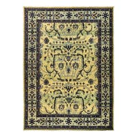 Baharin Hand-knotted Green Wool Area Rug - 9'3x12'3