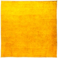 Jeddazan Yellow Wool Overdyed Hand-knotted Area Rug - 10'1 X 10'1