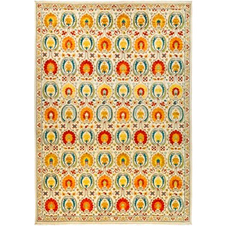 Zubanbar Hand-knotted Multicolor Wool Area Rug - 10'3 x 14'7