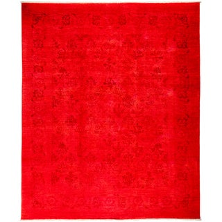 """Overdyed Baltinsoura Hand Knotted Area Rug (8' X 9'8"""")"""