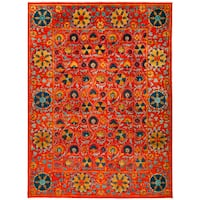 Inencik Hand-knotted Area Rug - 9'2 x 12'3