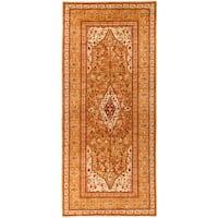 Halabjah Orange Wool Hand-knotted Runner (6'2x13'10)
