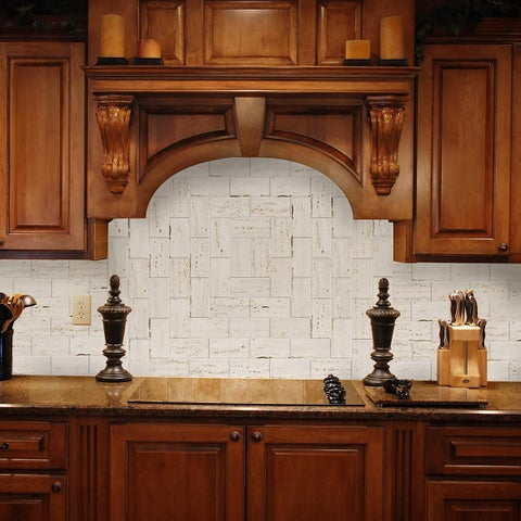 Peel and Stick Limestone Shades 6 in. x 3 in. Glass Wall Tile (48-Pack)