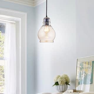 Mini pendant lights for less overstock mariana antique black mini pendant with cognac round glass aloadofball Gallery