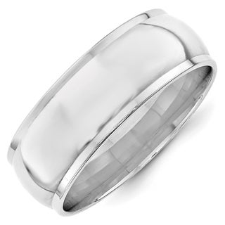 Link to 10 Karat White Gold 8mm Half Round with Edge Band by Versil Similar Items in Rings