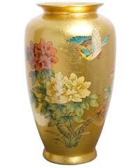 Handmade Gold Tung Chi Porcelain Vase (China)
