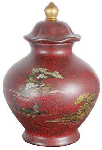 Red Temple Porcelain Jar (China)