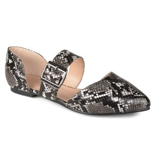 Journee Collection Women's 'Esme' Faux Leather Buckle Flats