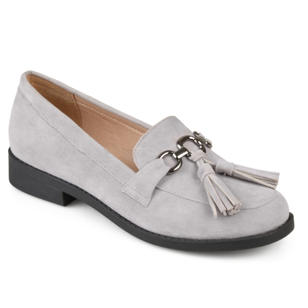 Journee Collection Women's 'Capri' Faux Suede Tassel Loafers