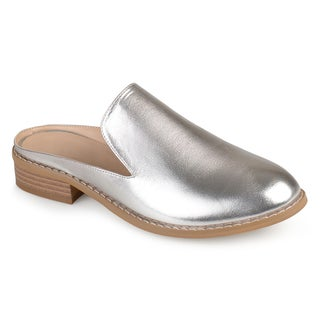 Journee Collection Women's 'Charly' Faux Leather Slide-on Mules