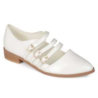 Journee Collection Women's 'Elyse' Patent Buckle Shoes