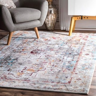 nuLOOM Vibrant Crystalline Medallion Floral Border Multi Rug (4' x 6')|https://ak1.ostkcdn.com/images/products/15995566/P22389963.jpg?_ostk_perf_=percv&impolicy=medium