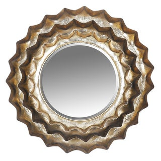 Sunburst Metal Accent Wall Mirror - Antique Brown