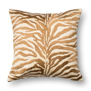 Zebra Modern Safari Bronze Embroidered 18-inch Throw Pillow or Pillow Cover