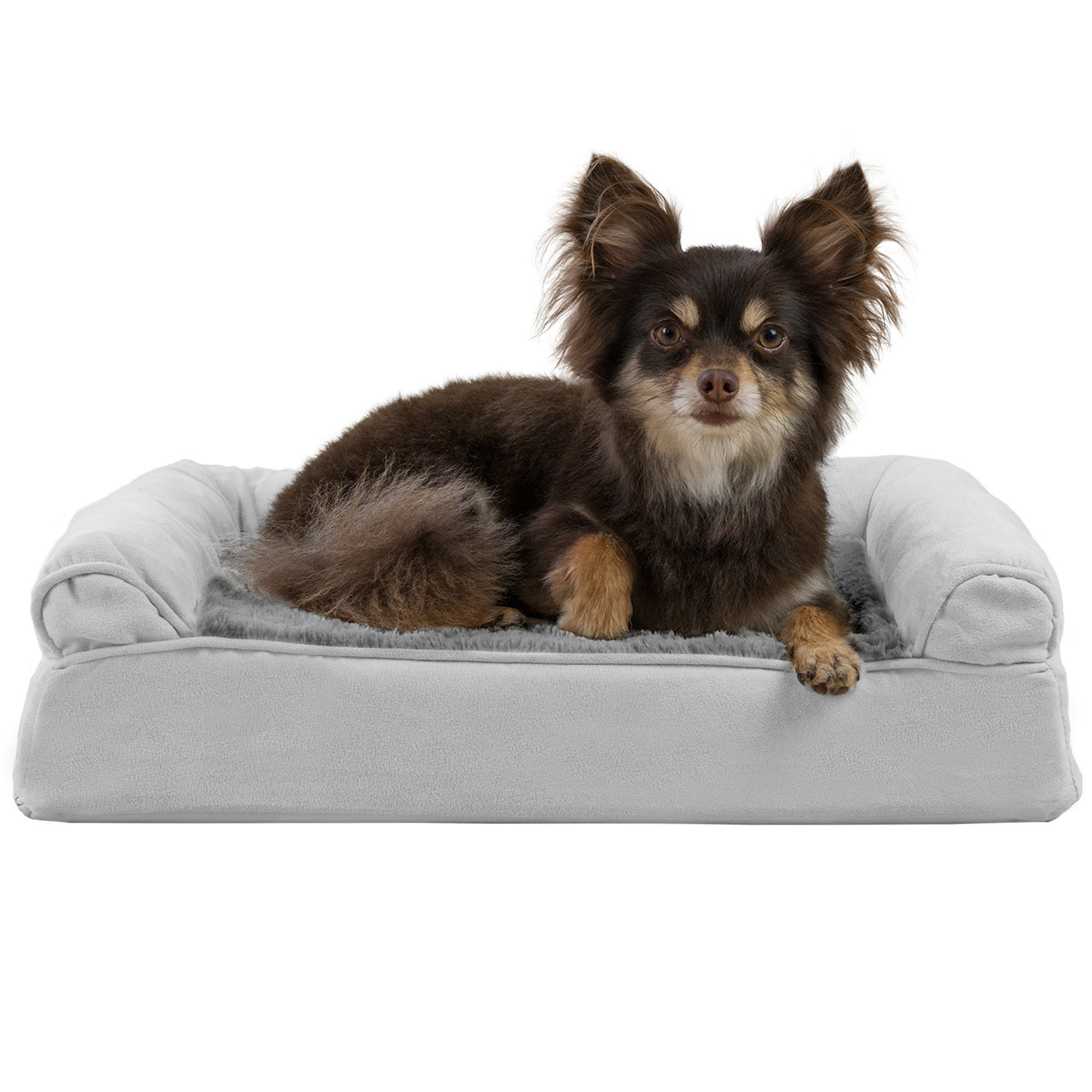 FurHaven Plush & Suede Memory Top Dog Couch Pet Bed (Larg.