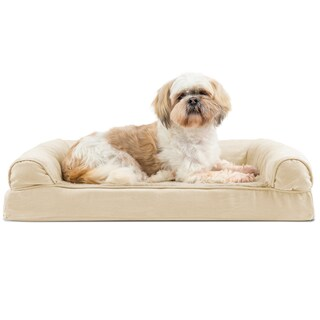 FurHaven Plush & Suede Memory Top Dog Couch Pet Bed (4 options available)