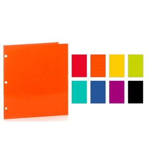 """Promarx Portfolios,12 1/2"""" X 9 1/2"""",4 Pocket Paper Portfolios w/Math Tips,3 Hole Punched,Assorted Colors,Colors May Vary,48PK"""