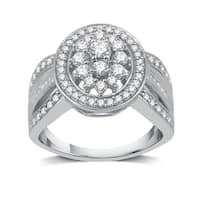 1 CTTW Diamond Round-Shaped Composite Ring In Sterling Silve (I-J, I2-I3) - White I-J