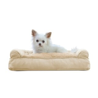 FurHaven Plush & Suede Pillow Sofa Dog Bed