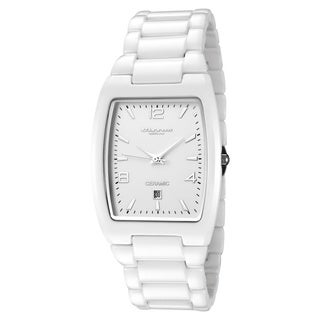 Cirros Luxury Unisex White Ceramic Watch with Date - 2296GW-MD