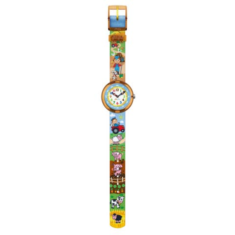 09135112b4c Swatch Kids ZFBNP046  Flik Flak Bauerama  Colorful Fabric Watch
