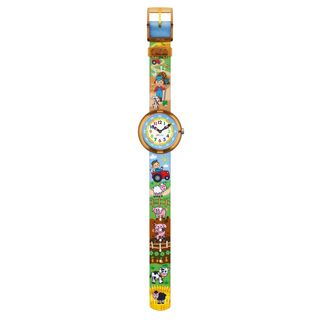 Swatch Kids ZFBNP046 'Flik Flak Bauerama' Colorful Fabric Watch