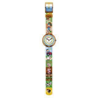 Swatch Kids ZFBNP046 'Flik Flak Bauerama' Colorful Fabric Watch