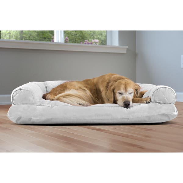 Fabulous Shop Furhaven Polycanvas Quilted Pillow Sofa Dog Pet Bed Ncnpc Chair Design For Home Ncnpcorg