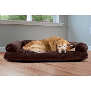 FurHaven Polycanvas Quilted Pillow Sofa Dog Pet Bed (More options available)
