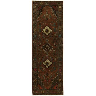 Herat Oriental Persian Hand-knotted Hamadan Wool Runner (3'3 x 10'3)