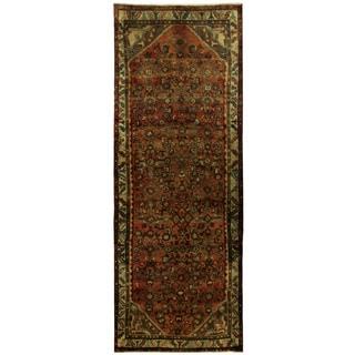 Herat Oriental Persian Hand-knotted Hamadan Wool Runner (3'7 x 9'8)