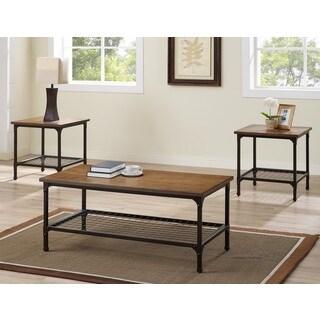 Bernards Stockton Oak-finished 3-piece Table Set