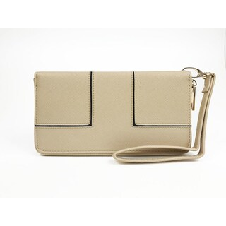 Ferrara single zipper wristlet wallet (Option: Beige)