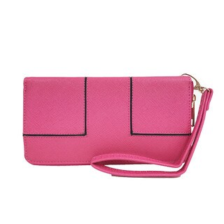 Ferrara single zipper wristlet wallet