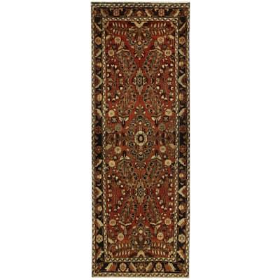 Handmade One-of-a-Kind Hamadan Wool Runner (Iran) - 3'4 x 9'10