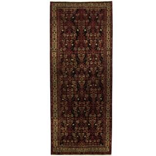 Herat Oriental Persian Hand-knotted Hamadan Wool Runner (4' x 10'1)