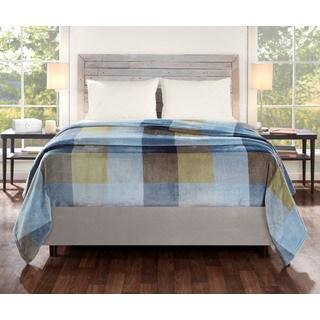 Eddie Bauer Yesler Plaid Ultra Plush Navy Blanket