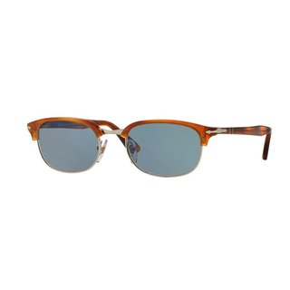Persol 0PO8139S Unisex Terra Di Siena Frames Blue Lenses Sunglasses