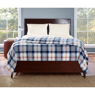 Eddie Bauer Summit Plaid Navy Blanket